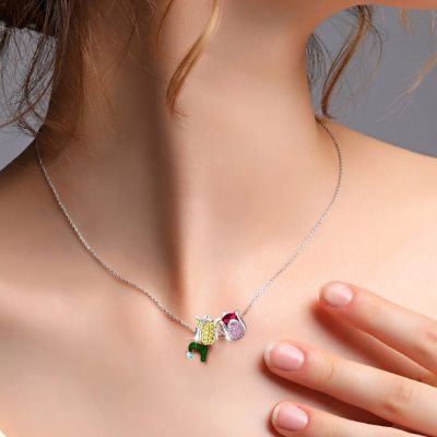 Tulip Flower Charms Necklace
