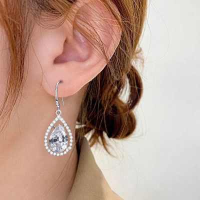 Drop-Shaped Dangle Earrings