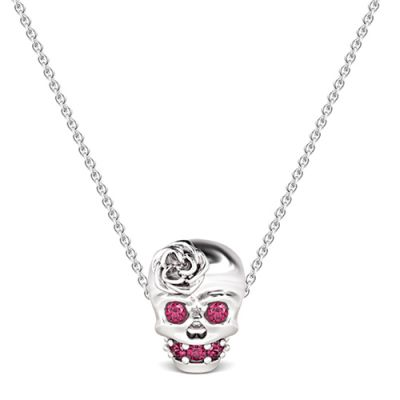 Skull Rose Quartz Necklace