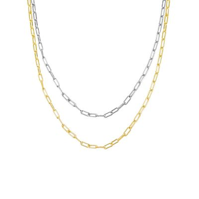 Polished Chain Choker Necklace