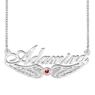 Name Necklace With Wing