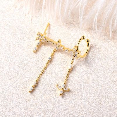 Chain Design Stud Earrings