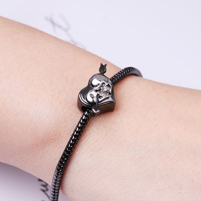 Arrow Through Skull Charm