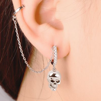Black Eye Skull Earring