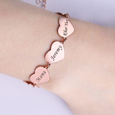 Engravable Bracelet Heart Charm