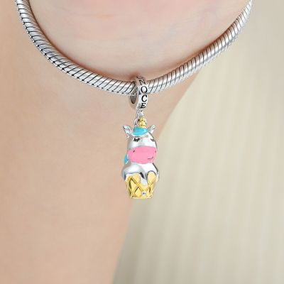 Unicorn Ice Cream Pendant
