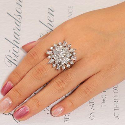 White Snowflake Ring