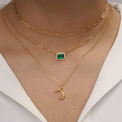 Bamboo Initial J Necklace