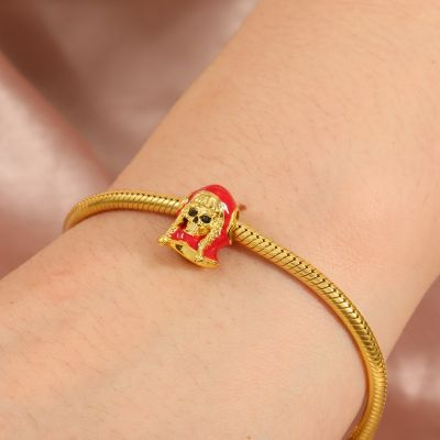 Little Red Riding Hood Skull Charm