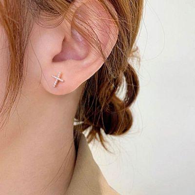 Classic Cross Stud Earrings