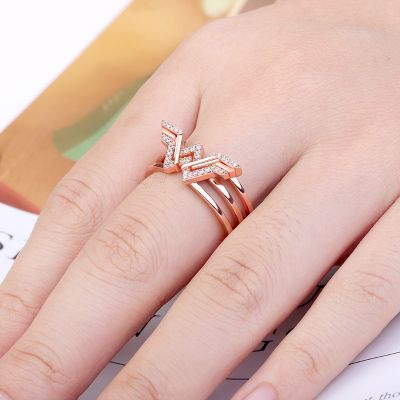 Wing Ring Rose Gold