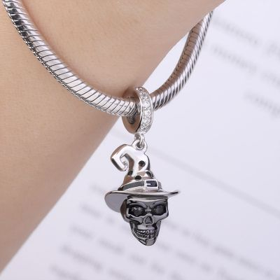 Clown Hat Skull Charm