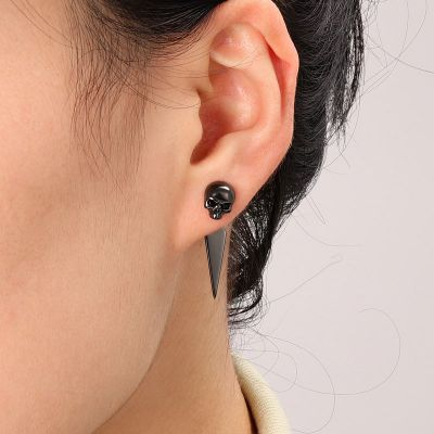 Black Skull Earring Jackets