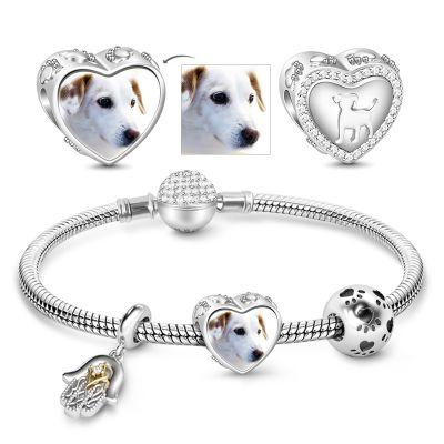 Puppy Photo Charm Bracelet