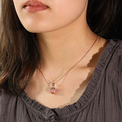 Strawberry Chocolate Earl Necklace