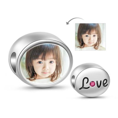 Engraved Love Photo Charm