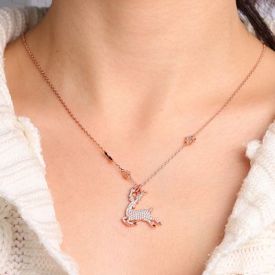 Elk Necklace Sterling Silver