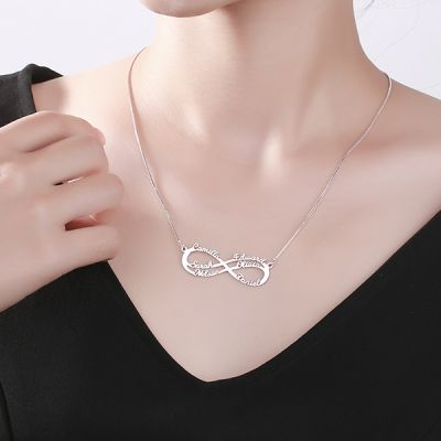 6 Names Infinity Necklace