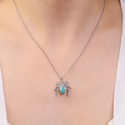 Turquoise Spider Necklace