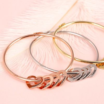 Bangle Bracelet with Heart