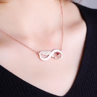Infinity Wing Necklace