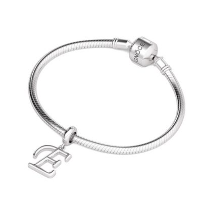 Letter E 925 Sterling Silver Dangling Charm Great for Bracelet Necklace