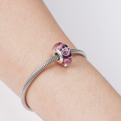 Rose Murano Glass Charm