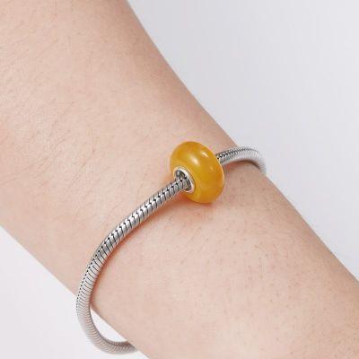 Yellow Murano Glass Charm