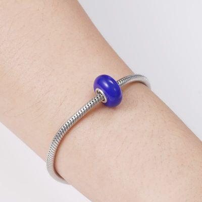 Indigo Blue Glass Charm