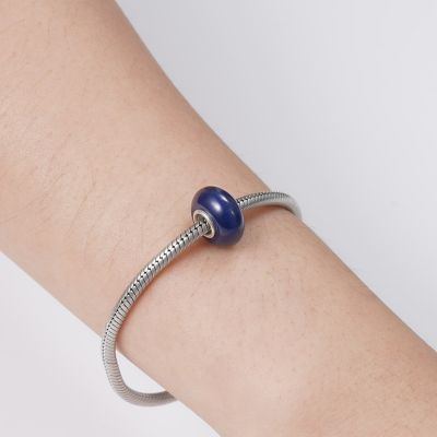 Navy Blue Glass Charm
