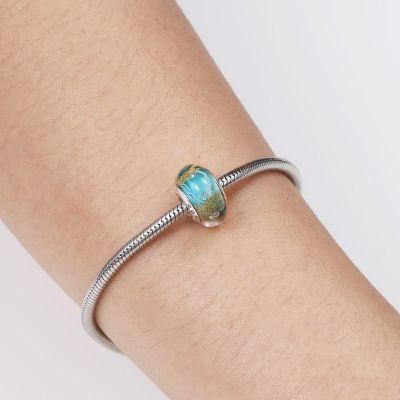 Turquoise Murano Glass Charm