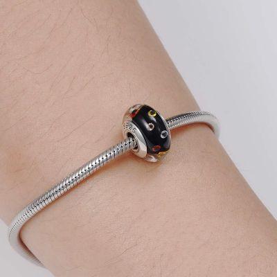 Black Murano Glass Charm