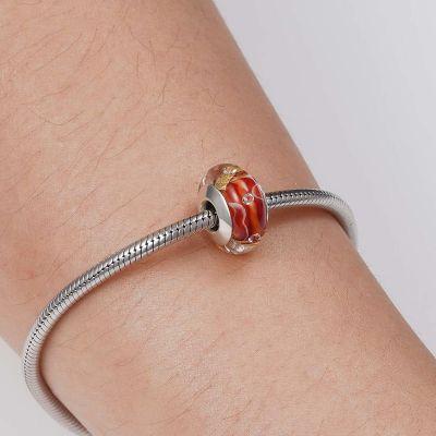 Red Murano Glass Charm