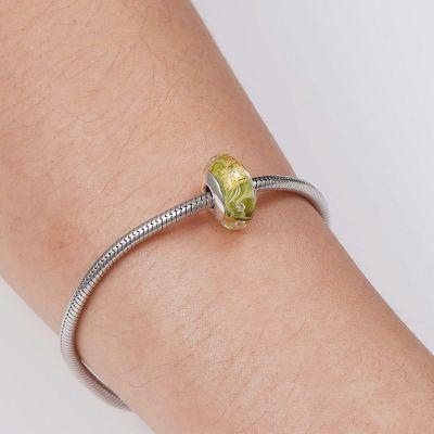 Light Green Murano Glass Charm