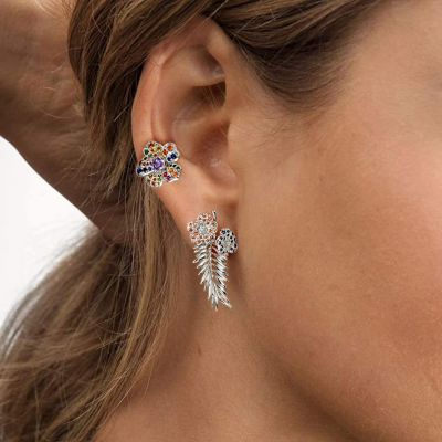 Flower & Leaf Stud Earrings
