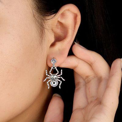 Spider Skull Earrings