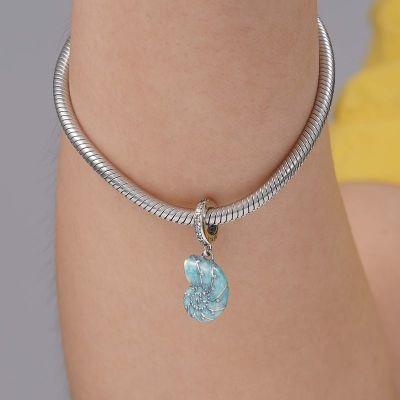 Blue Sea Snail Pendant