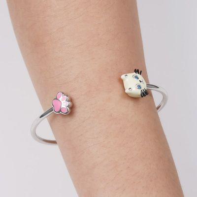 Kitty Paw Bangle Bracelet