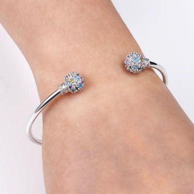 Gem-studded Bangle Bracelet