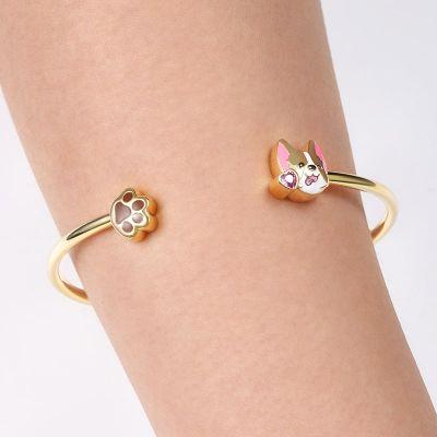 Puppy Bangle Bracelet