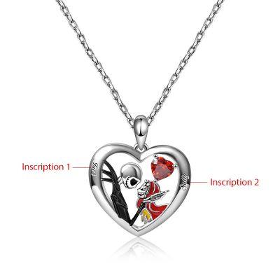 Jack&Sally Heart Necklace