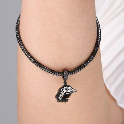 Crow Head Skull Pendant