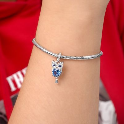 Gemstone Owl Pendant