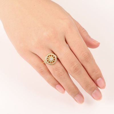 Sunflower Dreamcatcher Ring