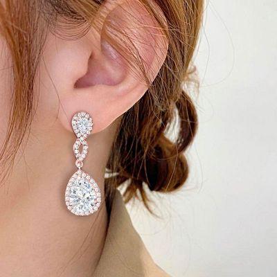 Infinite Water Drop Earrings