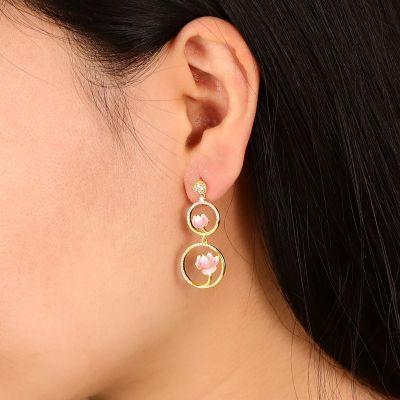 Lotuses Gourd Drop Earrings