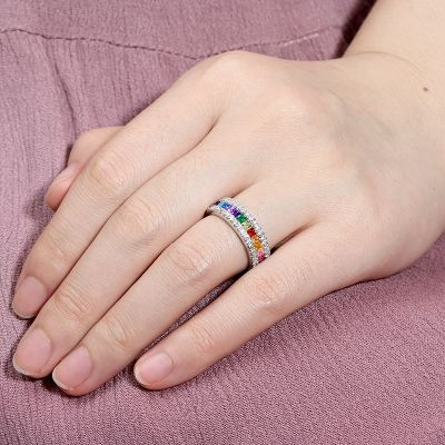 Multi-Color Princess Cut Band