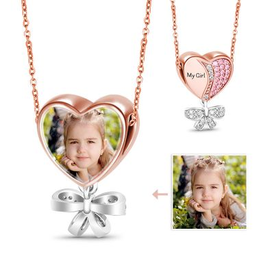 Precious Gril Photo Charm Necklace