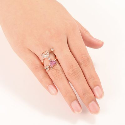 Angel & Devil's Heart Ring