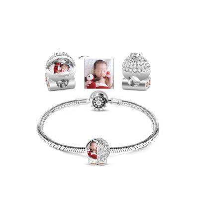 Photo Charm Silver Bracelet
